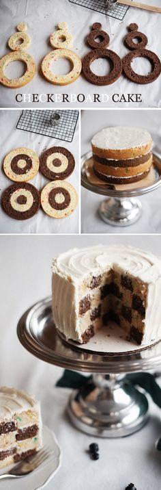Schachbrett-Kuchen /Checkerboard Cake