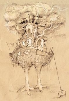 Baba Yaga was my favorite fairy tale growing up...I loved her chicken leg house!