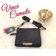 ⚜Vince Camuto | Front Phone Pocket Crossbody Bag⚜ ⚜Detachable adjustable crossbody strap, top carry handle, convertible style ⚜5.75in W x 4in H ⚜zip closure ⚜50in strap, fully extended ⚜8 interior pockets, 1 front pocket, 1 back pocket ⚜Material: leather ⚜Bag comes with Dust Bag  No HoldsNo Trades Vince Camuto Bags Crossbody Bags