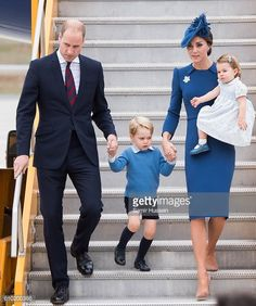 Prince William Duke of Cambridge Catherine Duchess of Cambridge Prince George of Cambridge and Princess Charlotte of Cambridge arrive at Victoria...