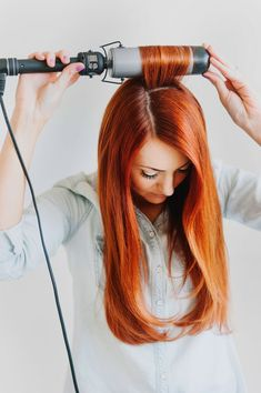 How To Create A Faux Blowout  #tutorial #red hair