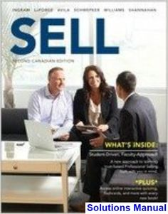 Solutions Manual for SELL Canadian 2nd Edition by Ingram IBSN 9780176622107