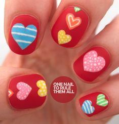 nail art - nail design - One Nail To Rule Them All: Valentines has come early! Valentine nail designs - #nailart