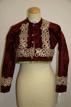 Ženská vesta tzv. pruclek, 2. polovina 19. století - Sbírka Muzea J.A.Komenského v Uherském Brodě