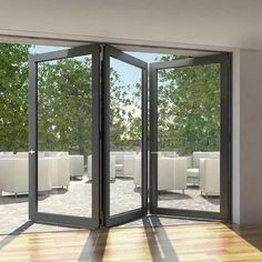 Schuco aluminium bi-fold doors