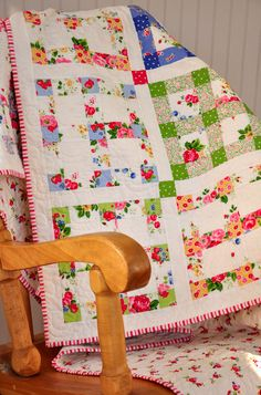 Holly Holderman   NIce way to use up some of those old fashioned floral prints I was given!