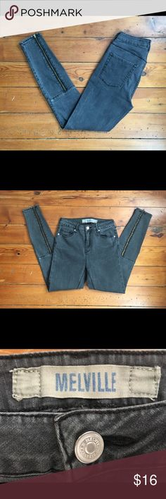 Brandy Melville Jeans, Size 27 Brandy Melville Jeans, Size 27. Zippers on back of leg.  Color: Charcoal Brandy Melville Jeans Skinny