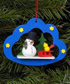 Wood Starry Snowman Ornament by Christian Ulbricht #zulily #zulilyfinds