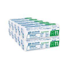 Johns Manville R 11 Unfaced Fiberglass Insulation Batt 16 In X 96 In 10 Bags Au397 Fiberglass Insulation Insulation R 11