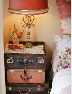 An amazing #ShabbyChic #bedsidetable idea. #Loveit