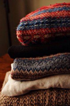 | October |  Cinnabar, Prussian Blue & Bronze  . . . Knitted & Woven