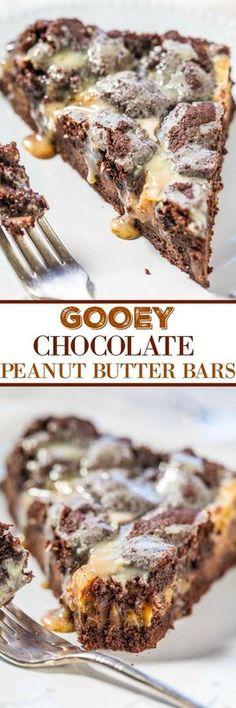 Gooey Chocolate Peanut Butter Bars