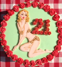 Pin up cake. Handmade hand painted by Lady Luck's House of Cakes x Hand Painted Cakes, Cupcake Cakes, Pin Up, Aurora Sleeping Beauty, Disney Princess, Lady, Disney Characters, Handmade, House