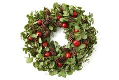 "32"" Fresh Eucalyptus & Fruit Wreath"