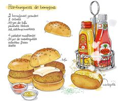 Cartoon Cooking: Hamburguesísima