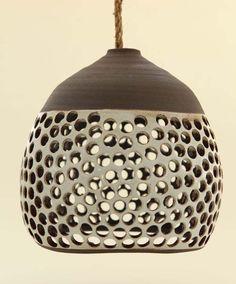 Heather Levine�s ceramic hanging pendant lights