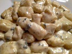 Gnocci with Gorgonzola Cream Sauce ... an authentic, delicious Italian recipe by…