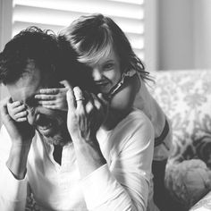 Father & Daughter B&W #Photography