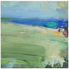 """Chappaquiddick Oil on canvas 6""""x6"""" SOLD We've had such great summer weather this week that I thought it was appropriate to do a beach..."""