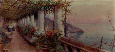 Attilio  Pratella ~ Pergola In Amalfi