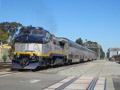 CDTX #2051 (GE B32-8WH) in Emeryville, CA    Amtrak California B32-8WH #2051 shoves a Capital Corridor train through Emeryville.