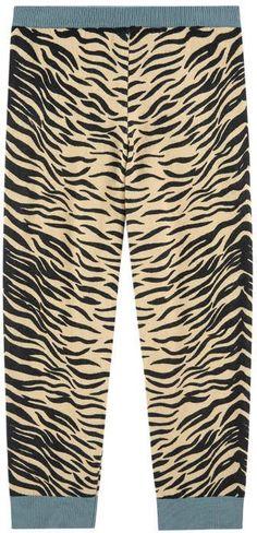 Stella McCartney Tiger organic cotton and wool pants - Liliane
