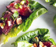Seared Steak Lettuce Cups
