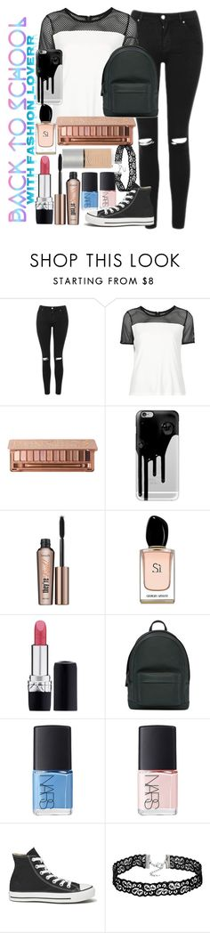 """""""Untitled #100"""" by alexandrea-kaylee ❤ liked on Polyvore featuring Topshop, Urban Decay, Casetify, Benefit, Armani Beauty, Christian Dior, PB 0110, NARS Cosmetics and Converse"""