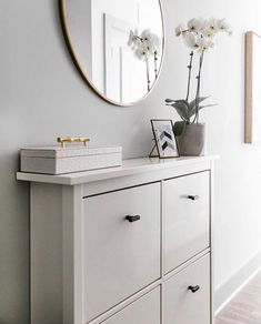 Hallway Ikea Hemnes shoe cabinet Buy Dc Kids Shoes And Dc Kids Junior Clothing At Hardedgeuk. Ikea Hemnes Shoe Cabinet, Shoe Cabinet Entryway, Cabinet Decor, Entryway Decor, Entrada Ikea, Decorating On A Budget, Home Renovation, Living Room Decor, Narrow Hallways