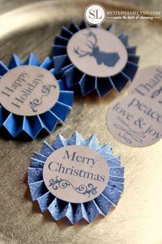 Free Printable Holiday Pinwheel Gift Tags