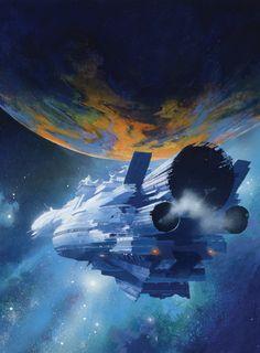 The incredibly beautiful sci-fi art of John Harris.