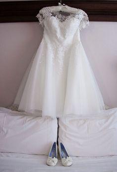 Wedding Dress Shapes, Tea Length Wedding Dress, One Shoulder Wedding Dress, Short Wedding Gowns, Wedding Dresses, Wedding Checklists, Bridal Boutique, Dress Making, Lace Shorts