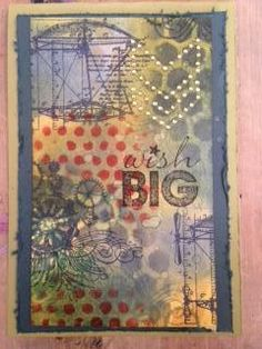 Student Work by Debir in Inventive Ink – Colorful Mixed Media Effects class.  Register here: craftsy.me/1ONw8iG