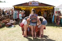 Spot of shopping at Womad?