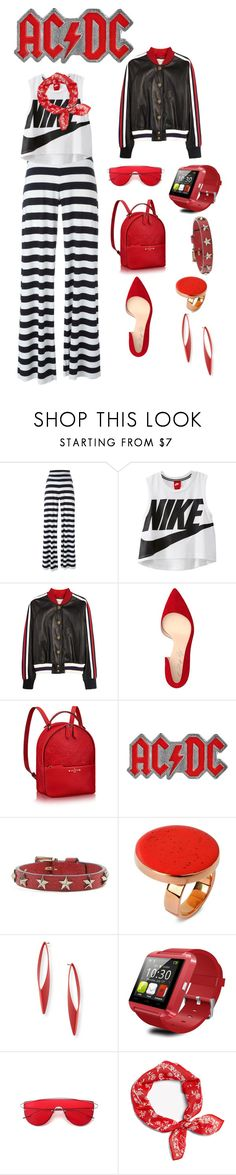 """Sem título #80"" by criscaruccio ❤ liked on Polyvore featuring Norma Kamali, NIKE, Gucci, Shoes of Prey, AC/DC, RED Valentino and STELLA McCARTNEY"