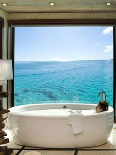 A tub with a view.