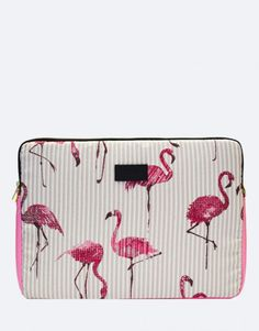 funda-portátil-flamencos Zip Around Wallet, Tropical, Bags, Laptop Sleeves, Flamingos, Handbags, Bag, Totes, Hand Bags