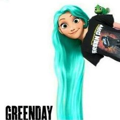 Punk Disney Rapunzel.....disney & green day....how perfect is that