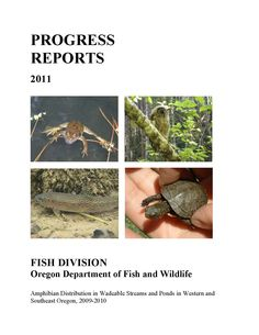 Distribution of amphibians in wadeable streams and ponds in western and southeast Oregon, by the Oregon Department of Fish and Wildlife, Fish Division