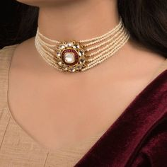 Celebrate life and inception of a beautiful tomorrow with our signature wedding edition - striking an epitome of grace, style and timeless… Pearl Necklace Designs, Initial Necklace Gold, Long Pearl Necklaces, Gold Jewellery Design, Indian Gold Jewellery, Saree Jewellery, Designer Jewellery, India Jewelry, Or Rose