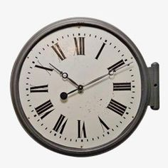 Vintage Industrial French Wall Clock