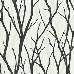 Wallpaper Designer Black White on White Modern Tree Silhouette Trees Branches The Wallpaper and Border Store http://www.amazon.com/dp/B00M7IQ5M0/ref=cm_sw_r_pi_dp_yeYgvb1EB2Q8J