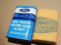 NOS ORIGINAL VINTAGE FORD WAX CLOTH CAN TIN GENUINE FOMOCO RARE ACCESSORIES