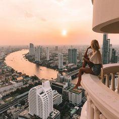 Bangkok, Thailand Best seat for sunset #thisonesforyoudad