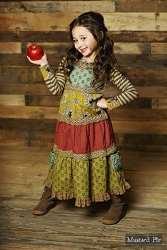 Mustard Pie Clothing Jolie Maxi Dress in Multi Fall 2015 Back to School