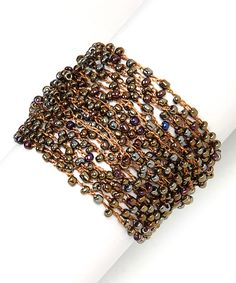 Pavcus Designs Brown Woven Bead Bracelet by Pavcus Designs #zulily #zulilyfinds