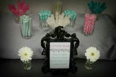 Candy bar. Mint, gray, and pink bridal shower. Photo taken by Travis Ryan Photography IE/OC photographer  travisryanphotography@gmail.com