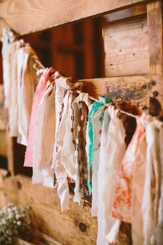Fabric Streamer Garland Small by QuaintlyUncommon on Etsy Emily Weis Photography