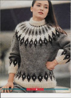 Reynolds Icelandic Fashions Pattern 27 Women's Adults | Etsy Fair Isle Knitting Patterns, Fair Isle Pattern, Sweater Knitting Patterns, Knitting Designs, Icelandic Sweaters, Vintage Knitting, Pattern Fashion, Knitwear, Knit Crochet