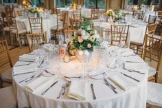 Glowing and sumptuous centerpieces set the tone for Danielle and Sean's Aldie wedding - by Buttercup: Photography by Lauren Fair.